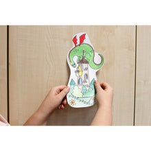 Load image into Gallery viewer, Self-Stick Colouring Book & Roll | Fairyland Adventures | Child sticks Coloured Cut-outs to Furniture | BeoVERDE.ie