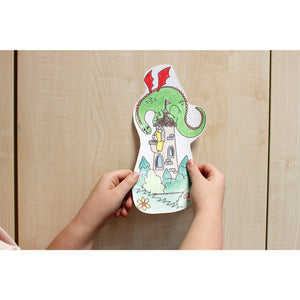 Self-Stick Colouring Book & Roll | Fairyland Adventures | Child sticks Coloured Cut-outs to Furniture | BeoVERDE.ie