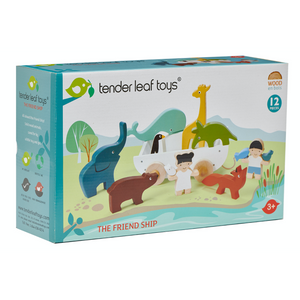 TenderLeaf 'The Friend Ship' | Hand-Crafted Wooden Animal Toys | Packaging | BeoVERDE.ie