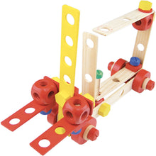 Load image into Gallery viewer, Vilac Wooden Construction Building Set 'Batibloc' | Educational Wooden Toy | Forklift | BeoVERDE.ie
