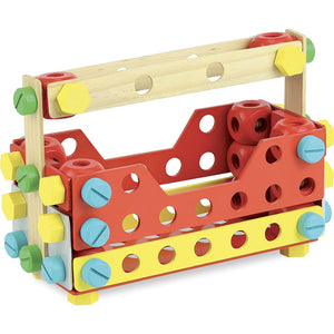 Vilac Wooden Construction Building Set 'Super Batibloc' | Educational Wooden Toy | Toolbox | BeoVERDE.ie