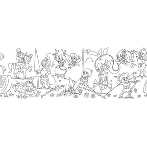 Self-Stick Colouring Book & Roll | Fairyland Adventures | Blank Sheet | BeoVERDE.ie