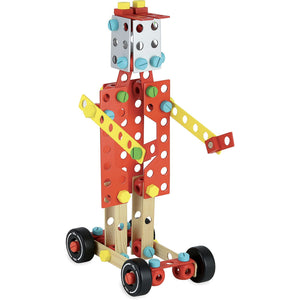 Vilac Wooden Construction Building Set 'Super Batibloc' | Educational Wooden Toy | Robot | BeoVERDE.ie