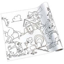 Load image into Gallery viewer, Self-Stick Colouring Book & Roll | Farm Life Adventures | Blank Sheet Partially Rolled Up | BeoVERDE.ie