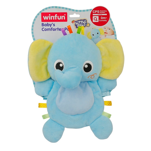 WinFun Plush Baby Elephant Yellow / Blue