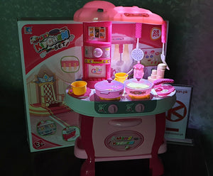 Kitchen Set With Music And Light for Kids