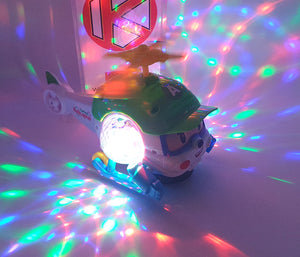 Cartoon Helicopter Light and Sound