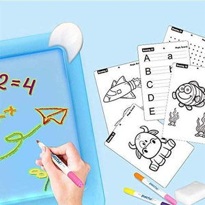 3D Magic Drawing Board With Light For Kids