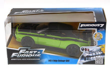 Load image into Gallery viewer, Jada Fast & Furious Letty's 2011 Dodge Challenger SRT8 Hard Top, Green with Black