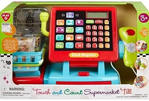 PlayGo supermarket till with accessories 22 cm 36-piece HT