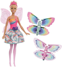 Load image into Gallery viewer, Barbie FRB08 Fantasy Flying Fairy Blonde Flapping Wings