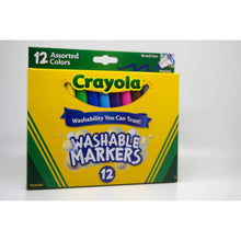 Load image into Gallery viewer, Crayola Washable Markers 12 Pieces in One Pack