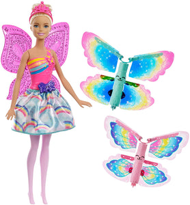 Barbie FRB08 Fantasy Flying Fairy Blonde Flapping Wings