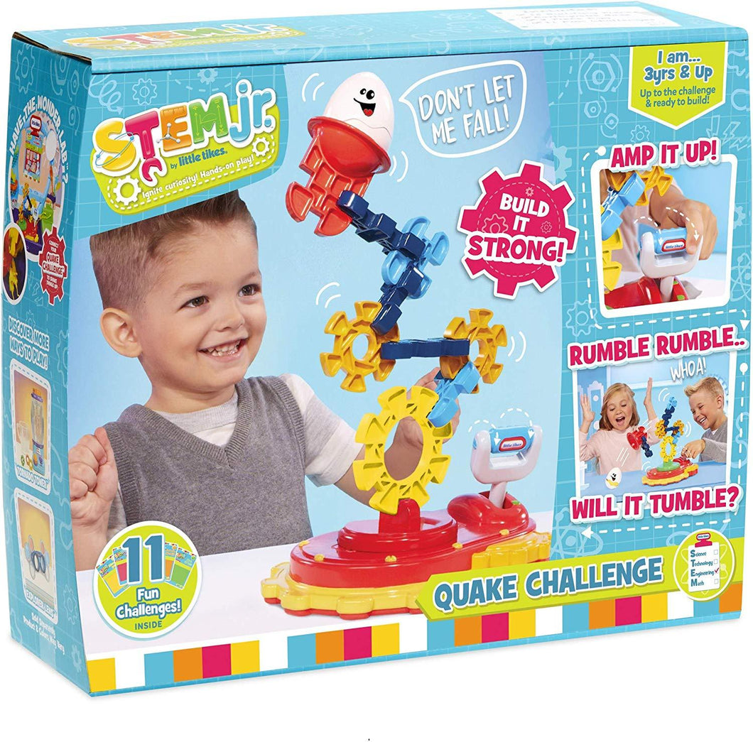 Little Tikes STEM Jr. Quake Challenge Set, 19 Pieces, 11 Challenges, Multicolor