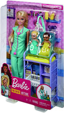 Load image into Gallery viewer, Barbie Baby Doctor Doll Playset