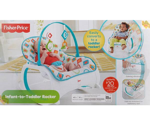 Fisher-Price Baby Rocking Chair, Geo Diamonds HT