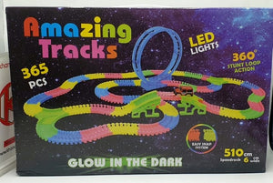 Glowing Car Track Set with 2 Cars