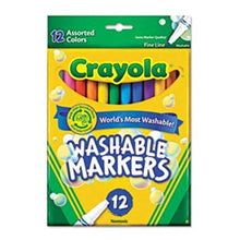 Load image into Gallery viewer, Crayola washable markers assorted color 12 picec in pack