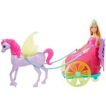 Load image into Gallery viewer, Barbie GJK53 Dreamtopia Princess, Doll Pegasus and Chariot