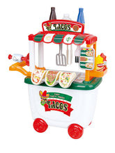 Load image into Gallery viewer, PlayGo Gourmet Taco Cart 29 pcs HT