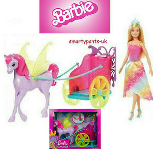 Barbie GJK53 Dreamtopia Princess, Doll Pegasus and Chariot