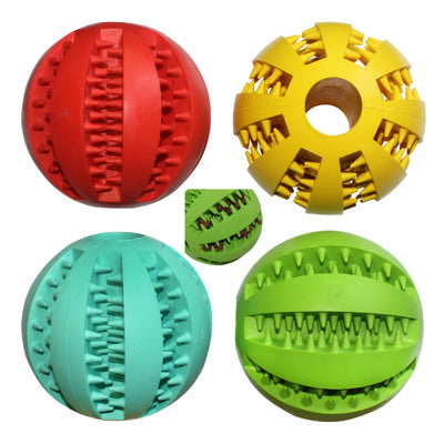 Rubber Food Ball Bite Resistant Dog Toy Mint Flavor Watermelon Tooth Ball Molar Toy