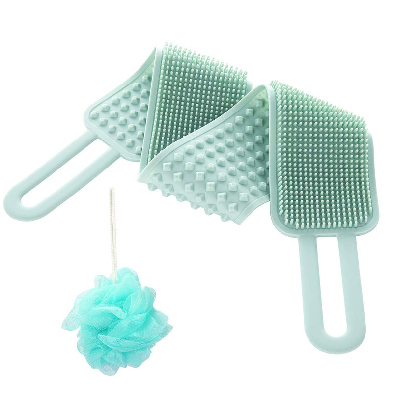 Back Scrubber for Shower,Updated Silicone Body Brush Back Washer for Deep Clean and Massage for Women Men