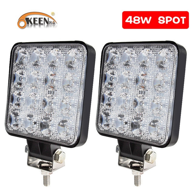 OKEEN 4Pcs led bar Worklight 4inch 48W Offroad Work Light 12v light led for Truck 4x4 uaz led tractor headlight spotlight IP67