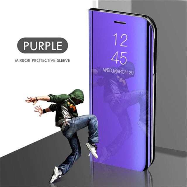 Smart Mirror Phone Case For Samsung Galaxy S20 S10 S8 S9 S7 S6 Edge Plus S10e A51 A71 A50 A30s M20 M31 M30s Note 8 9 10 Cover