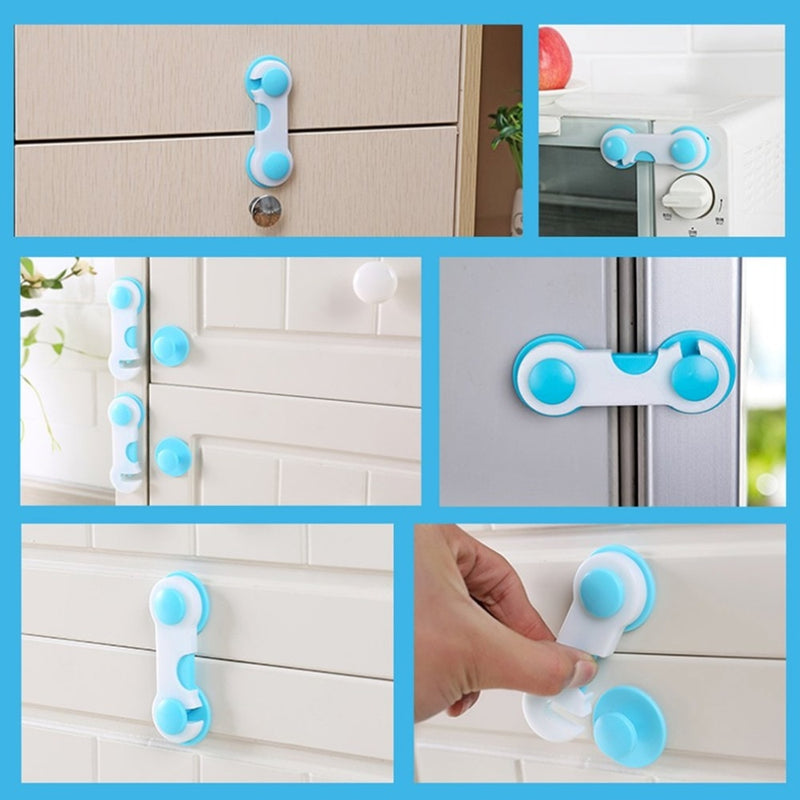 Plastic Cabinet Lock Child Baby Safety LockCupboard Cabinet Door Drawer Safety Locks Children Security Protector Baby Care