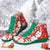 Plus Size Women Funny Lace Up Flat Heel Christmas Boots