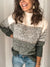 Casual Spell Color Round Neck Knit Sweater