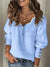 Women's Lace V-Neck Half-Zip Sweater