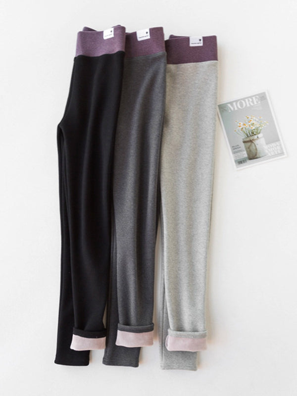 Casual Solid Warm Winter Pants