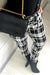 Stay Retro Grids Printed Skinny Pants