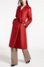 Modern Fold Over Collar Belted Coat