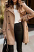 Womens Casual Solid Colour Overcoat