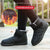 Outdoor Warm Fur Snow Boots Flat Magic Tape Boots Shoes