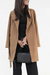 Casual large lapel solid color belt coat