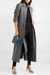 Commuter fold collar grey long sleeve pocket coat