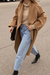 Fashion solid color lapel long sleeves coat