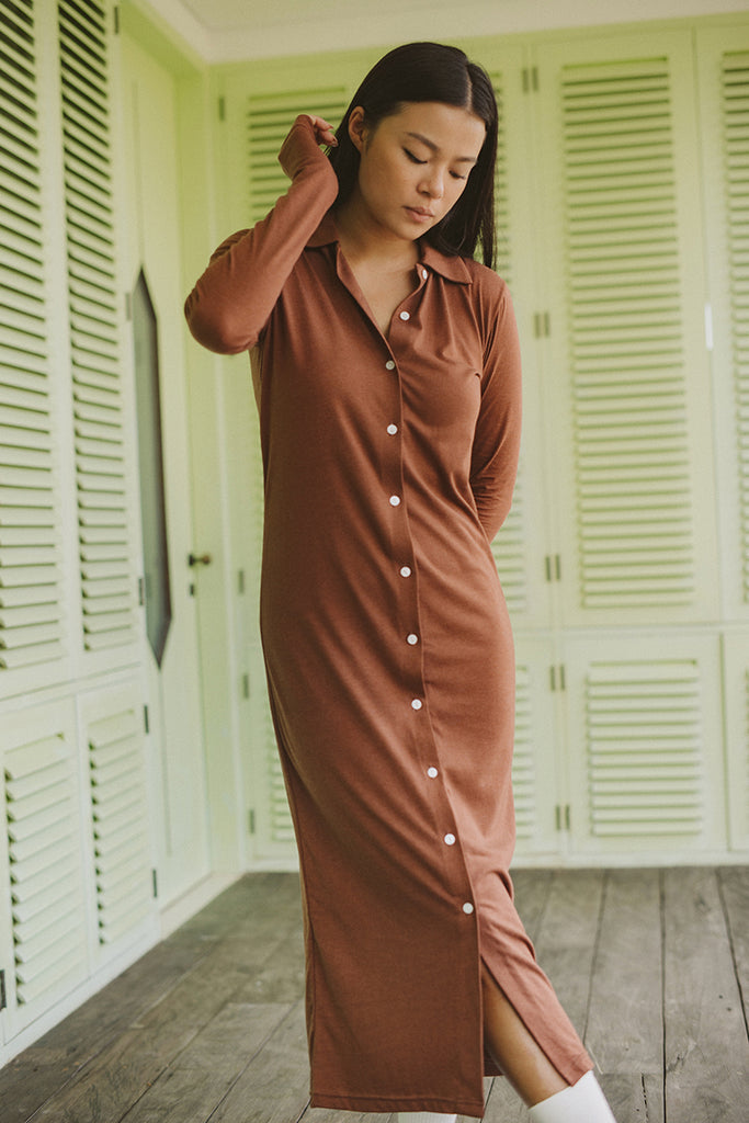 Button Up Polo Dress