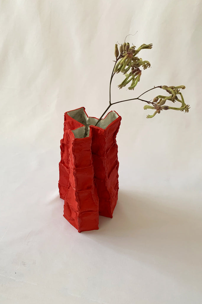 Tile Vessel in Red #1