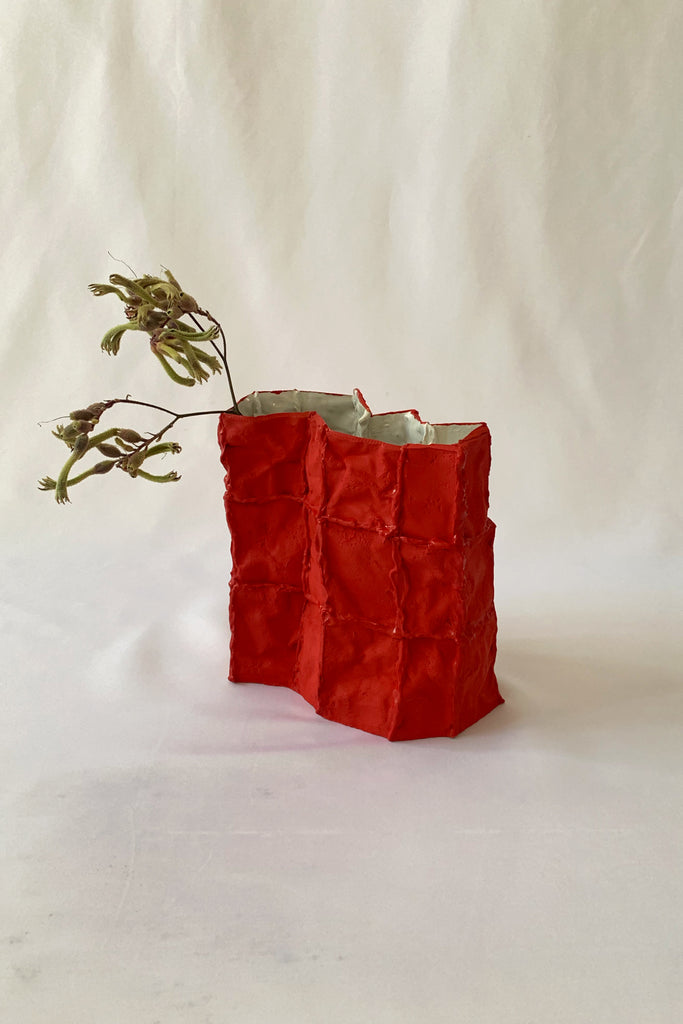 Tile Vessel in Red #3