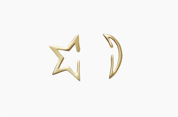 Disappearing Stars & Moon Stud by Venice Jewellery