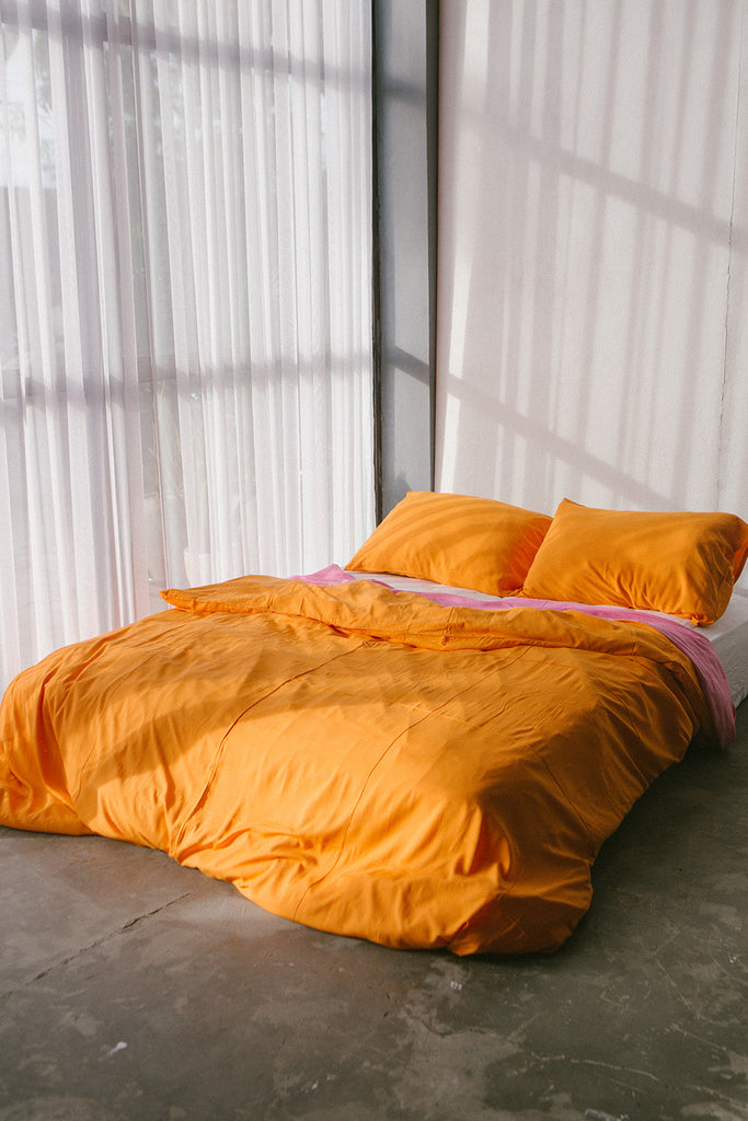 Tangerine Quilt Cover Set