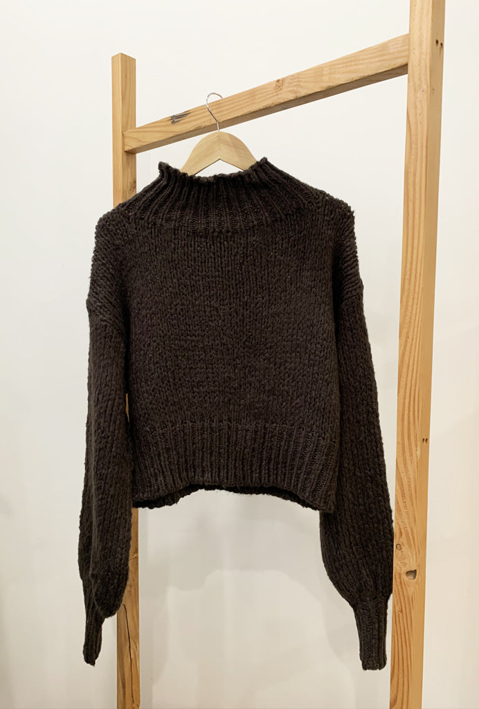 Choc Crop Sweater