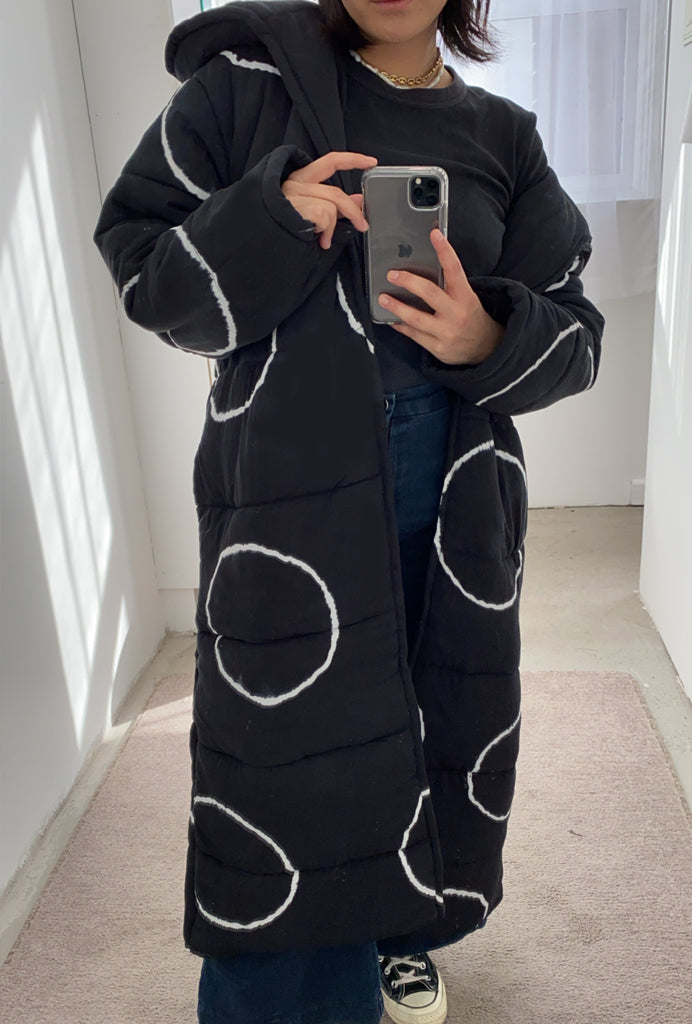 Moon Long Puffer Robe