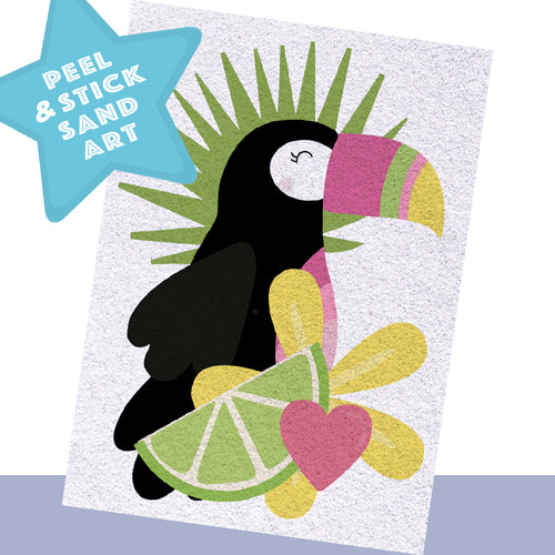 Lime Toucan Sand Art - Individual