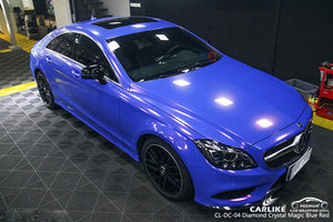 MERCEDES BENZ CAR WRAP - DIAMOND CRYSTAL GLOSS MAGIC BLUE RED